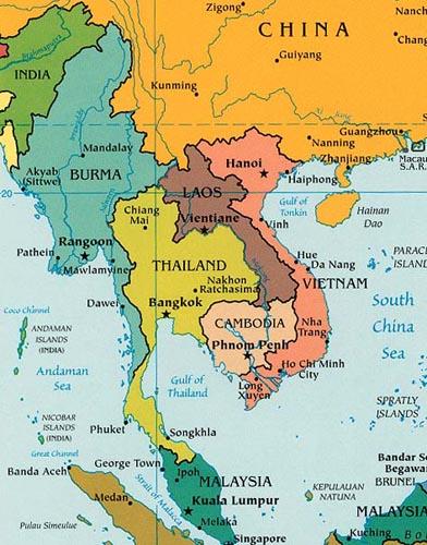 Resultado de imagem para tailandia mapa